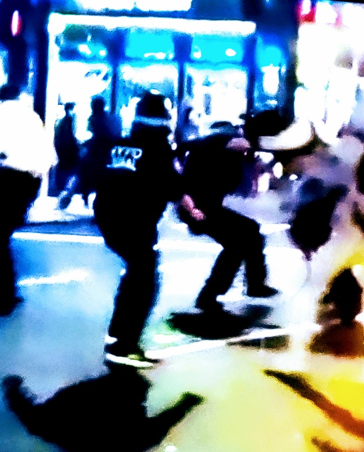 Police Officer being Beaten Down by Protestor…sad, very sad